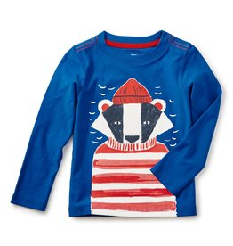 Tea Collection Salty Badger Graphic Baby Tee