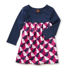 Tea Collection Argyle Birds Two-Tone Dress