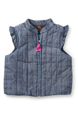 Tea Collection Citizen Chambray Zip Baby Vest