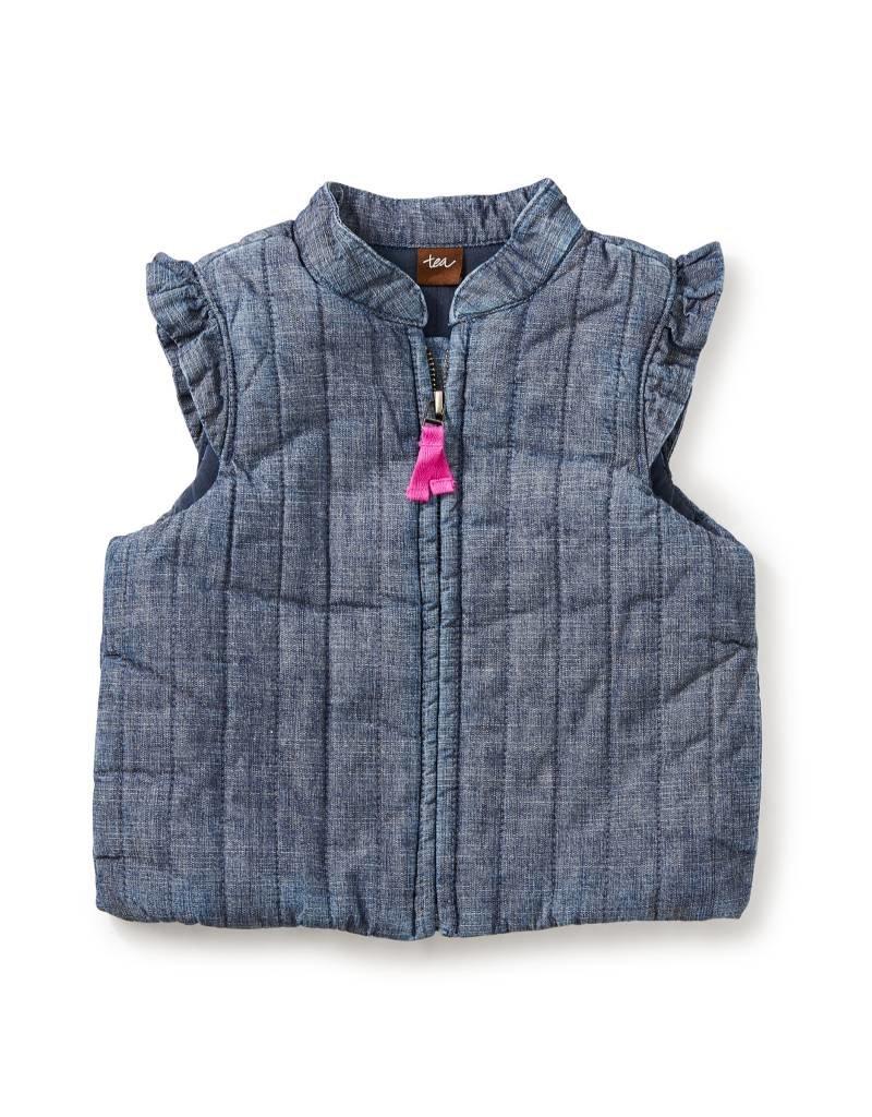 Tea Collection Citizen Chambray Zip Baby Vest