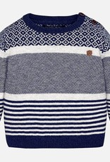 Mayoral USA Striped jacquard sweater