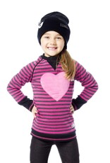 Deux Par Deux Heart Fashion Sweater