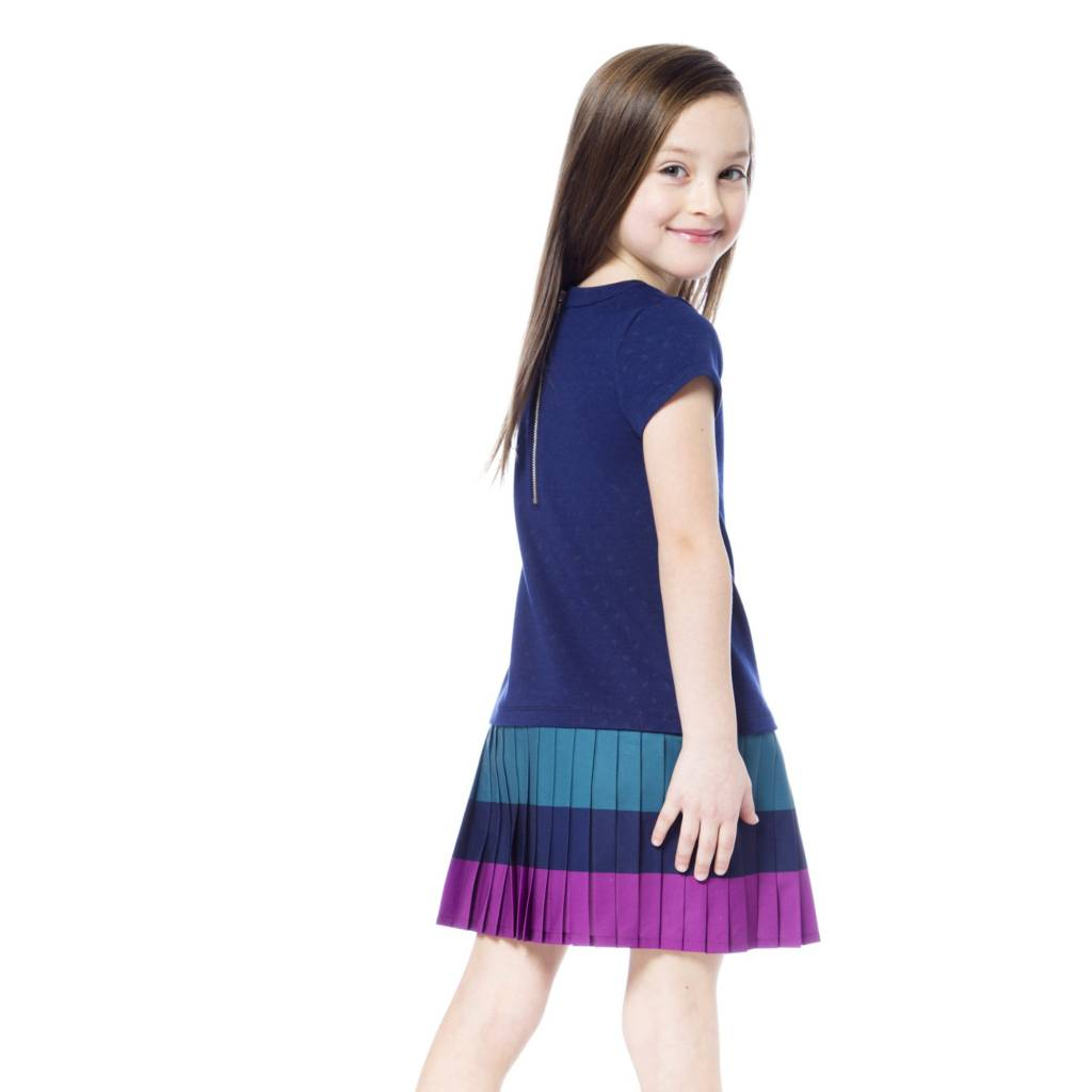 Deux Par Deux Pleated Milano Dress