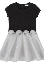 Deux Par Deux Anthracite Chic Shell Dress