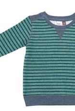 Fore! Green Striped Fleece Sweatshirt