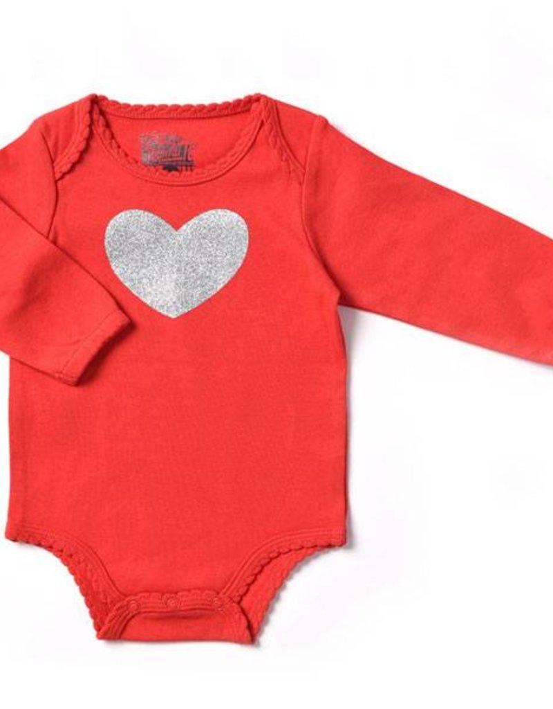 Kapital K Glittered Heart Bodysuit