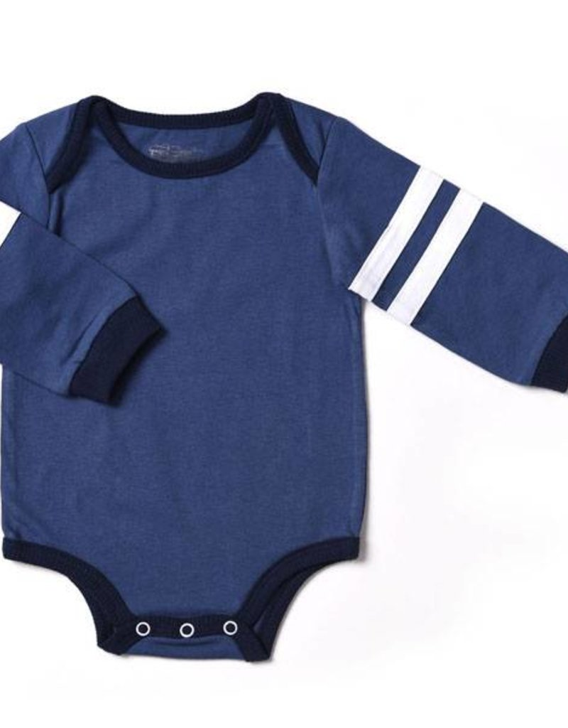 Kapital K Varsity Stripe Blue Bodysuit