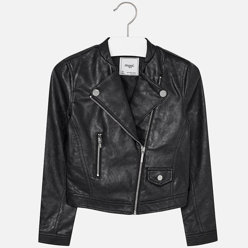 Mayoral USA Black Leather Jacket