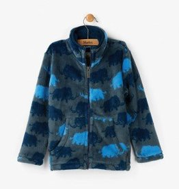 Hatley Blue Woolly Mammoths Fuzzy Fleece Jacket