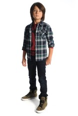 Appaman Flannel Jungle Navy Plaid Shirt