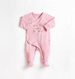 Petit lem Dusty Pink Over the Moon Knit Sleeper