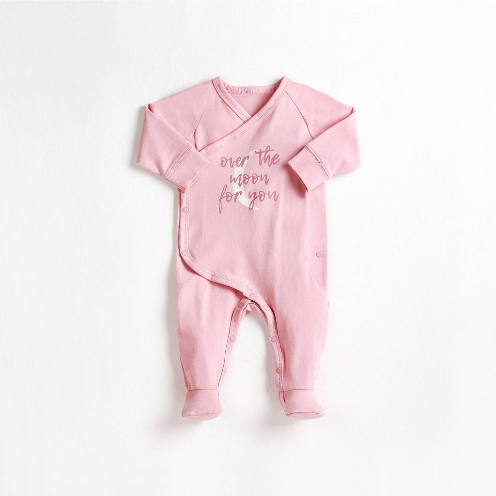 Petit lem Dusty Pink Over the Moon Knit Sleeper