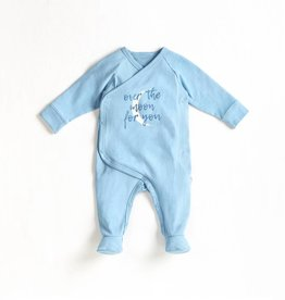 Petit lem Dusty Blue Over the Moon Knit Sleeper