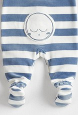 Petit lem Dusty Blue Stars & Moon Knit Sleeper