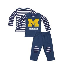 Wes and Willy Michigan Stripe Top Set