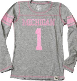 Wes and Willy Michigan Heather Slub Jersey
