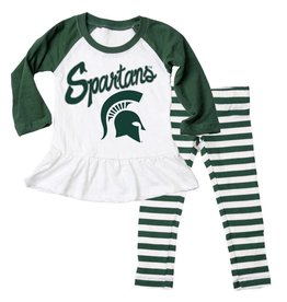 Wes and Willy MSU Raglan Set