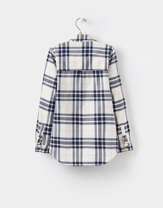 Little Joule Navy Cream Checked Shirt