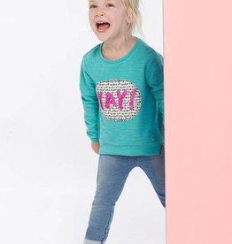 Little Joule Cool Green Print Sweatshirt