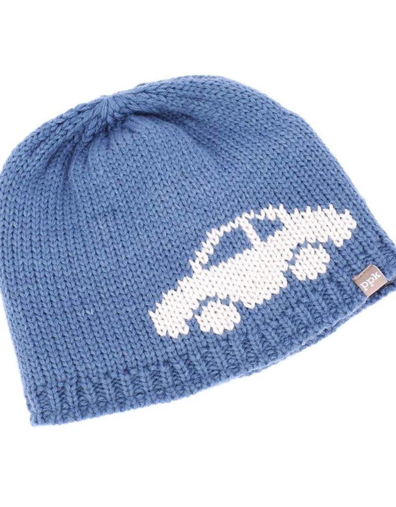 Peppercorn Kids Blue Car Beanie