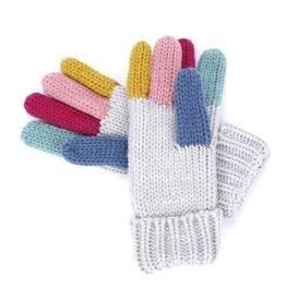 Peppercorn Kids Rainbow Color Finger Gloves (6-12)