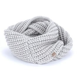 Peppercorn Kids Heather Grey Chunky Rib Infinity Scarf