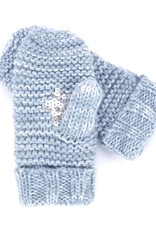 Peppercorn Kids Marled Blue Sequin Star Mittens