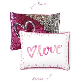 Mermaid Pillow Co Love pillow Pink Silver