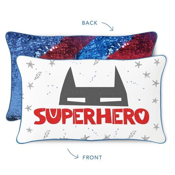 Mermaid Pillow Co Superhero Pillow Blue Red