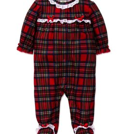 Little Me Girl Plaid Footie
