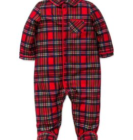 Little Me Boy Plaid Footie