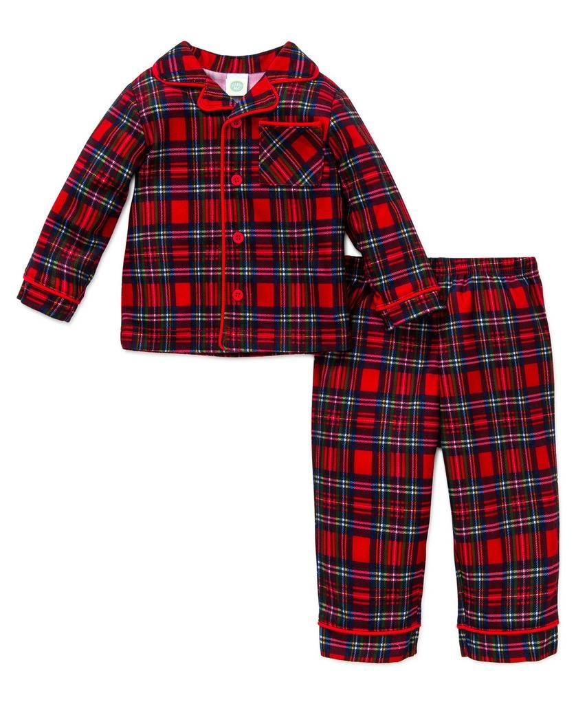 Little Me Plaid Coat PJ