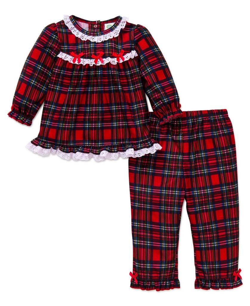 Little Me Girl Plaid 2PC PJ