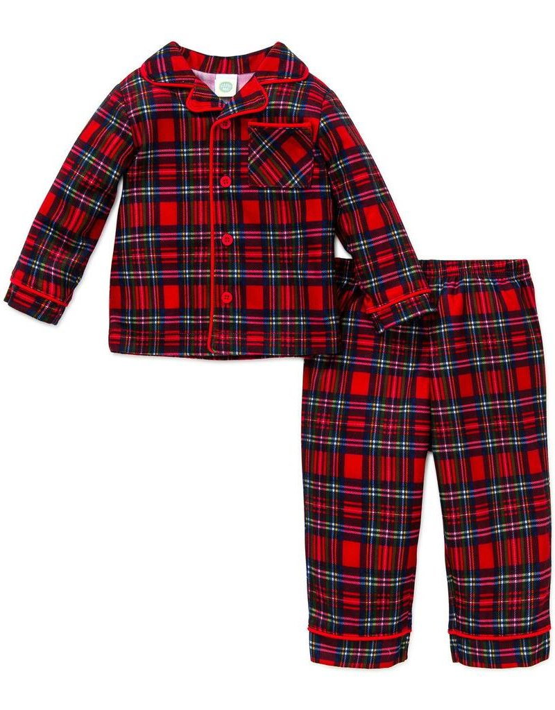 Little Me Plaid Coat PJ