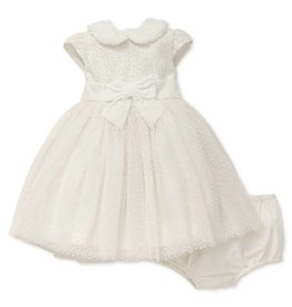 Little Me Ivory Flock Dress