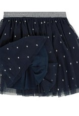 3 Pommes Blue Silver Dot Skirt