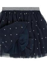3 Pommes Blue Silver Dot Skirt