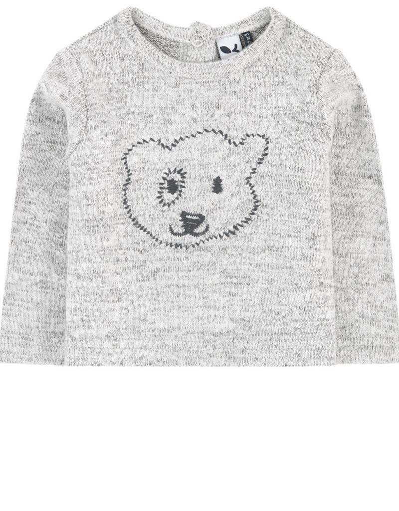 3 Pommes Grey Bear sweater