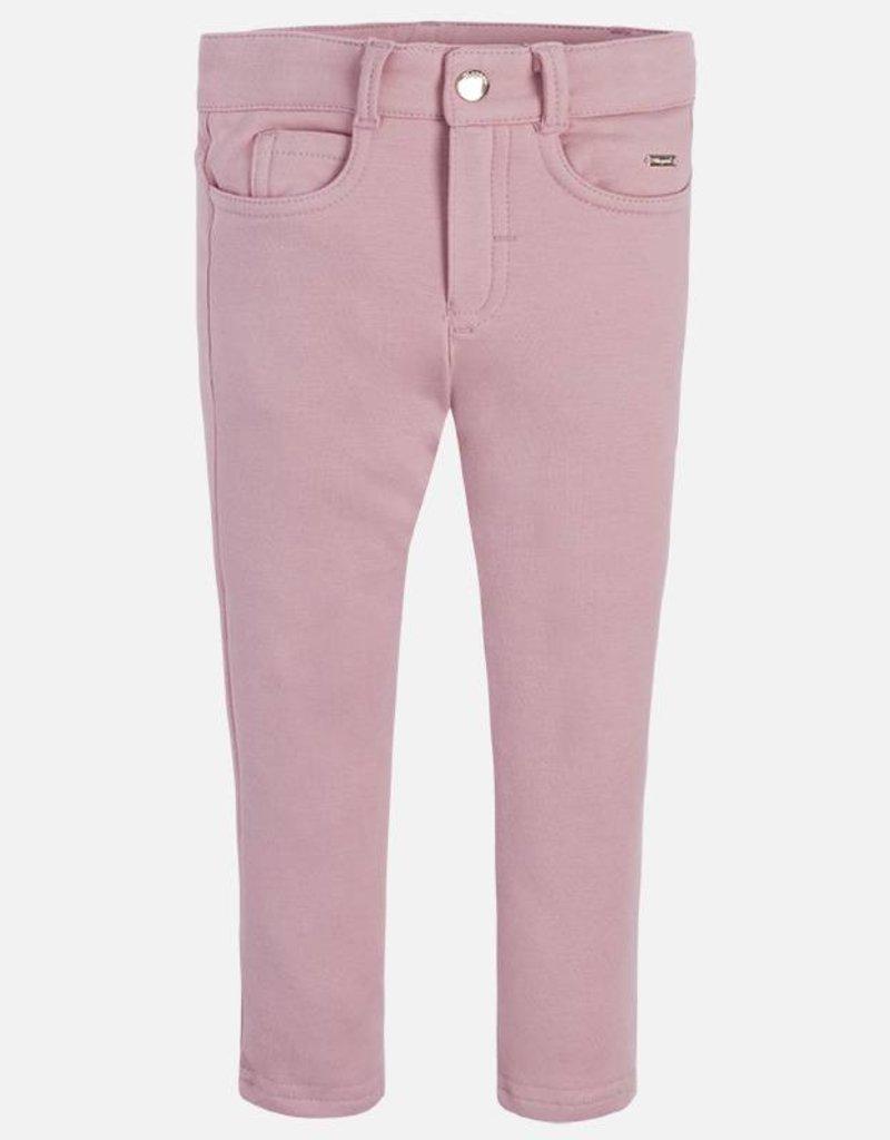 Mayoral USA Pink Fleece lined pants