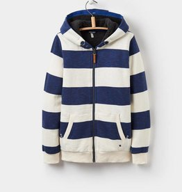 Little Joule Navy Stripe Zip Through Hoody