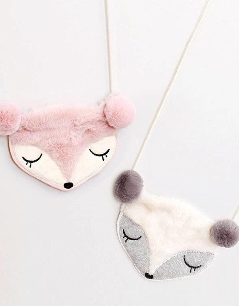 Mae Li Rose Pink Fox Purse