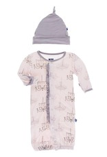 Kickee Pants Macaroon Chandelier Layette Converter Gown and Hat