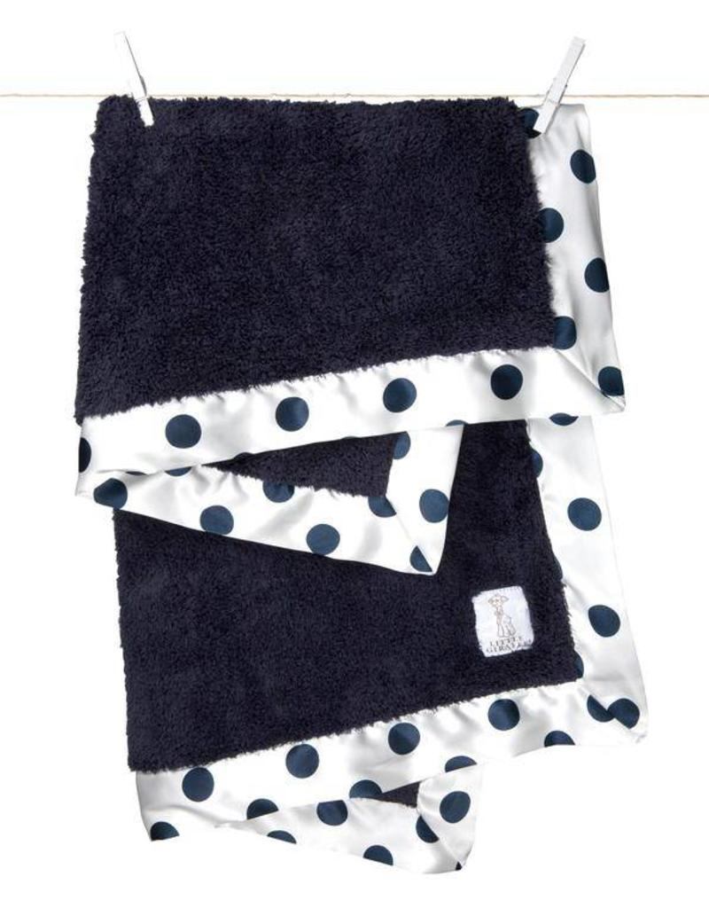 Little Giraffe Denim New Dot Chenille Blanket