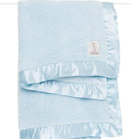 Little Giraffe Blue Chenille Blanket