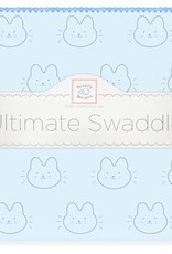 Swaddle Designs Blue Baby Bunny Swaddle