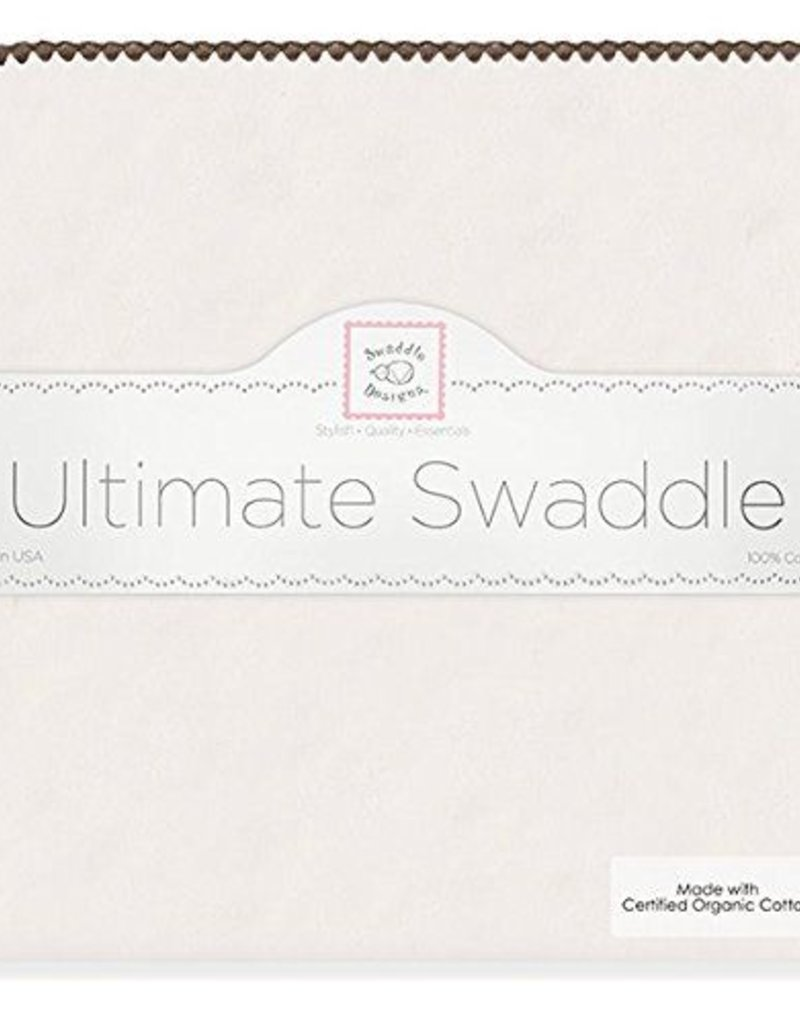 Swaddle Designs Ultimate Nat/Brown Swaddler ORGANIC