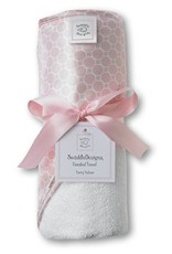 Swaddle Designs Pastel Pink Hooded Towel