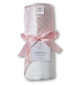 Swaddle Designs Pastel Pink Hooded Towel