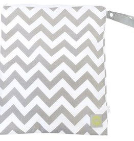 Itzy Ritzy Grey Chevron Large Wet Bag