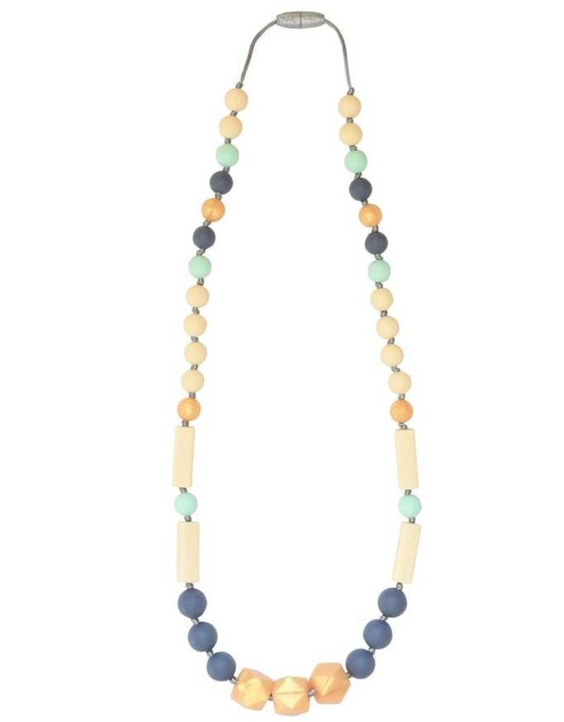 Itzy Ritzy Slate Gold Necklace